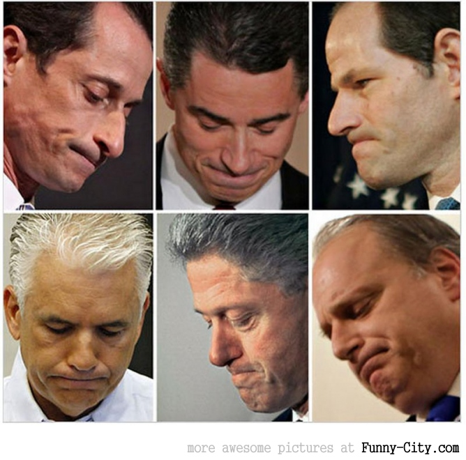 Sorry politician faces....