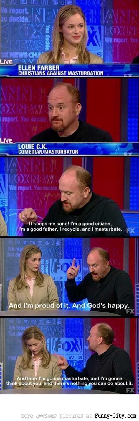Louis CK defends masturbation [2052]