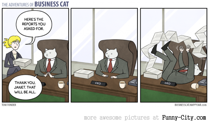 Business Cat doing Cat Business [10 strips] [7816]