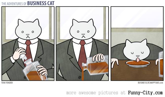 Business Cat doing Cat Business [10 strips] [7819]