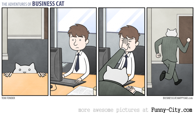 Business Cat doing Cat Business [10 strips] [7823]