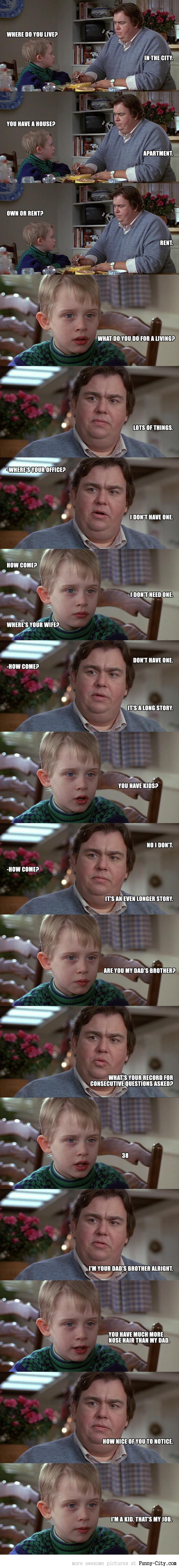 Uncle Buck - Record for consecutive questions asked