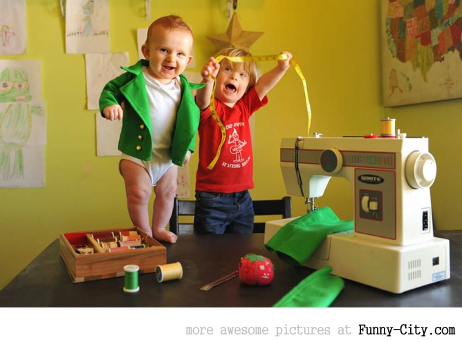 Dad turns his 6-month-old baby into a naughty Leprechaun [7 photos]