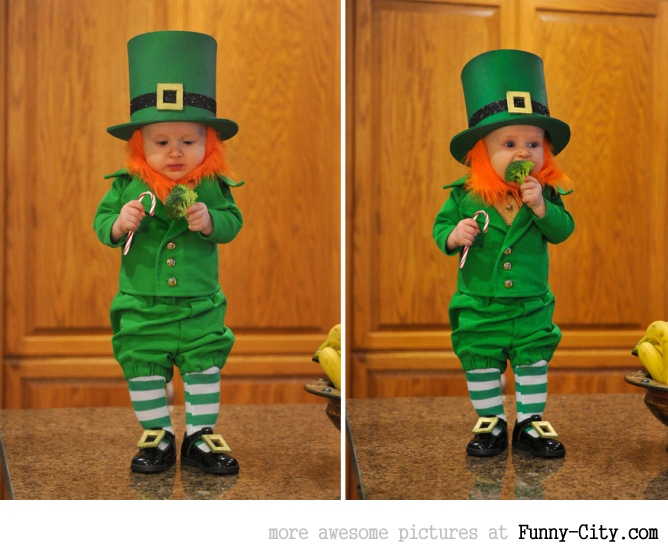 Dad turns his 6-month-old baby into a naughty Leprechaun [7 photos] [11363]