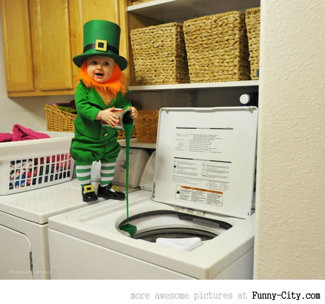 Dad turns his 6-month-old baby into a naughty Leprechaun [7 photos] [11366]
